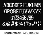 grunge  alphabet and numbers    ... | Shutterstock .eps vector #693486343