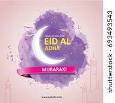 eid al adha  eid ul adha... | Shutterstock .eps vector #693493543
