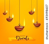 happy diwali wallpaper design... | Shutterstock .eps vector #693498607