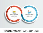 two connected arrow circles.... | Shutterstock .eps vector #693504253