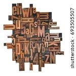 antique letterpress wood type... | Shutterstock . vector #693505507