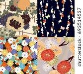 4 styles of japanese...   Shutterstock .eps vector #693514537