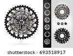 bicycle cassette mountain bike. ... | Shutterstock .eps vector #693518917