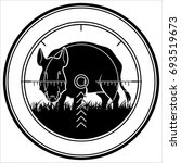 hunter sniper scope crosshair... | Shutterstock .eps vector #693519673