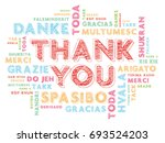 thank you word cloud in... | Shutterstock .eps vector #693524203