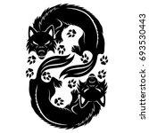 wolf sign. | Shutterstock .eps vector #693530443