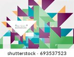 triangle pattern design... | Shutterstock .eps vector #693537523