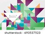 triangle pattern design... | Shutterstock .eps vector #693537523