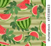 seamless pattern with... | Shutterstock .eps vector #693538813