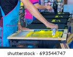 silk screen printing shirt | Shutterstock . vector #693544747