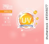 protection uv and whitening... | Shutterstock .eps vector #693545077