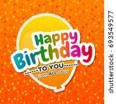 beautiful happy birthday... | Shutterstock .eps vector #693549577
