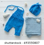 blue pants  blanket for babies  ... | Shutterstock . vector #693550807