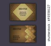 ornamental mosaic business... | Shutterstock .eps vector #693558127