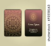 luxury business cards with... | Shutterstock .eps vector #693558163