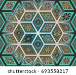 colorful vintage seamless...   Shutterstock .eps vector #693558217