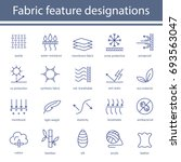 fabric and clothes feature line ... | Shutterstock .eps vector #693563047