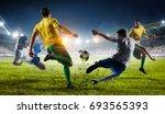 soccer best moments. mixed media | Shutterstock . vector #693565393