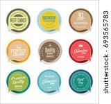 abstract modern vector sticker... | Shutterstock .eps vector #693565783