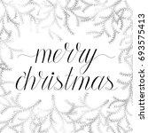 merry christmas hand written... | Shutterstock .eps vector #693575413