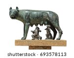 the capitoline wolf  statue of... | Shutterstock . vector #693578113
