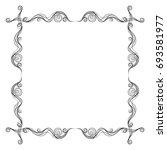vector frame. calligraphic... | Shutterstock .eps vector #693581977