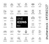line icons set. logistics pack. ... | Shutterstock .eps vector #693582127