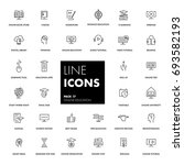 line icons set. online... | Shutterstock .eps vector #693582193