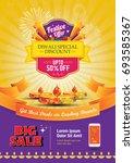 Diwali Festival Sale Poster Flyer Layout Template a4 Size  | Shutterstock vector #693585367