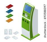isometric set vector online...   Shutterstock .eps vector #693588397