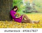 young beautiful happy girl... | Shutterstock . vector #693617827