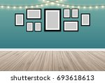 wood terrace with vintage color ... | Shutterstock .eps vector #693618613