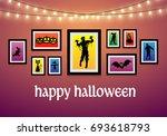 halloween carnival background... | Shutterstock .eps vector #693618793
