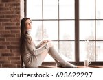 beautiful girl 24 25 year old... | Shutterstock . vector #693622297