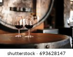 glass with portuguese 10 year...   Shutterstock . vector #693628147