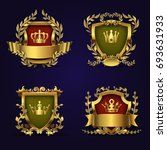 royal heraldic emblems in... | Shutterstock . vector #693631933