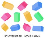 building blocks. cubes at... | Shutterstock .eps vector #693641023