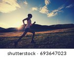 young fitness woman runner... | Shutterstock . vector #693647023