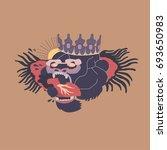 baboon logo design template ... | Shutterstock .eps vector #693650983