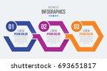 vector 3 steps timeline... | Shutterstock .eps vector #693651817