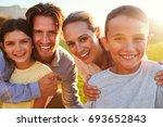 portrait of happy white family... | Shutterstock . vector #693652843