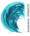 sea wave. abstract watercolor...   Shutterstock . vector #693662137