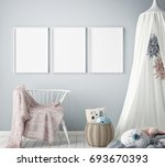 mock up poster frames in... | Shutterstock . vector #693670393