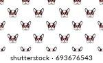 dog. french bulldog. heart...   Shutterstock .eps vector #693676543