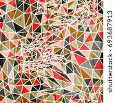 abstract stylish geometric... | Shutterstock . vector #693687913