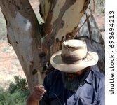 Small photo of Flinders Rangers National Park, Australia - February 09, 2002: Aborigine Ranger