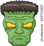 icon of the frankensteins head | Shutterstock . vector #693721807