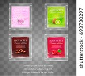 realistic packaging body scrub... | Shutterstock .eps vector #693730297