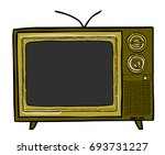 cartoon image of tv. television ... | Shutterstock .eps vector #693731227