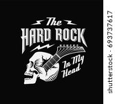 skull guitar  hard rock in my... | Shutterstock . vector #693737617